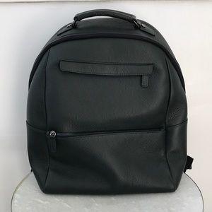 Saks Fifth Avenue Oblique-zip Leather Backpack